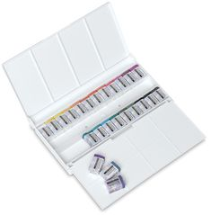 Yarka Professional Watercolors Sequel Set--This is the BEST pan set I've ever used, with even MORE colors in the Sequel series. I got this in the mid-90s when Yarka sets were available at rock bottom prices. I still have mine. Prices have gone up since but they are STILL an amazing product for the price.