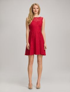Misses | Dresses | Lace Fit-and-Flare Dress | dressbarn