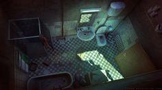 Dark Days : Bathroom, Sylvain Sarrailh on ArtStation at https://www.artstation.com/artwork/W8xZD