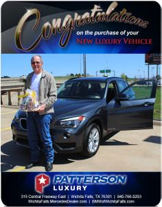 Congratulations to Cecil Rickman on his 2014 BMW - From Chris Emery at Patterson Luxury Luxury Vehicle, Luxury Cars, New Bmw, Mercedes Benz, Congratulations, Vehicles, Rolling Stock, Fancy Cars, Vehicle