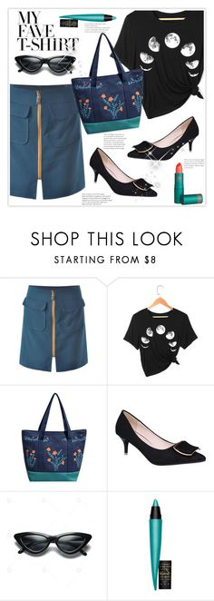 """""""Dress Up a T-Shirt"""" by stranjakivana ❤ liked on Polyvore featuring John Lewis, Lipstick Queen and MyFaveTshirt"""