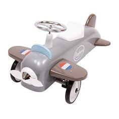 Correpasillos con forma de avión gris antiguo vintage Speedster de Baghera