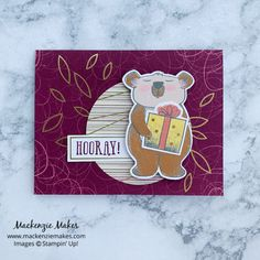 December 2020 Paper Pumpkin: Beary Comforting Stampin Up Paper Pumpkin, Christmas Banners, Cute Creatures, Little Gifts, Some Fun, Card Stock, Comforters, December, Projects