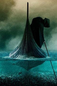 The Ferryman on the river Styx- this is such a beautiful (almost scary) picture!
