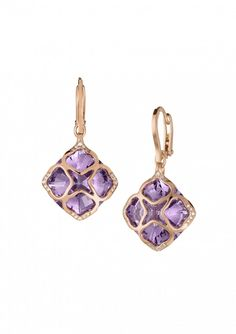 Chopard Pair of Earrings IMPERIALE Earrings 18k rose gold, amethysts and diamonds