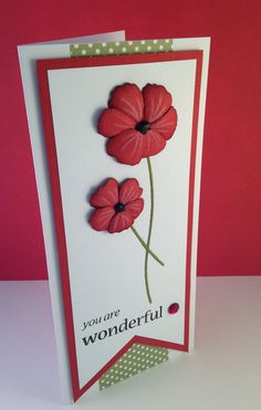 Poppystamps - Velvet Blossom & Woodware - Just Right For You