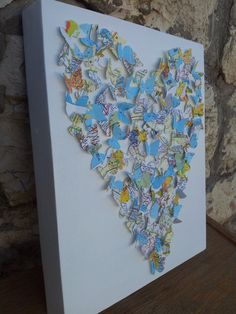 3D Butterly Heart / 3D Butterfly Art  Made from by RonandNoy