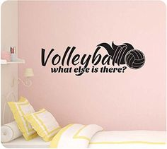 """32"""" VolleyBall What Else Is There Girl Sports Wall Decal Sticker Art Mural Home Décor Quote, http://smile.amazon.com/dp/B00LDIXME4/ref=cm_sw_r_pi_awdm_oFUVub0BYAEKA"""