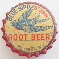Blue Bird Root Beer, bottle cap | Blue Bird Beverages, St. John, New Brunswick, Canada