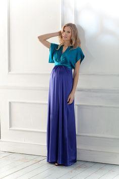 Seraphine Silk Maxi Maternity Dress | Best Selller