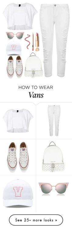 """keep it #white"" by andreearucsandraedu on Polyvore featuring MICHAEL Michael Kors, Boutique, Miss Selfridge, Converse, Vans and Fendi"
