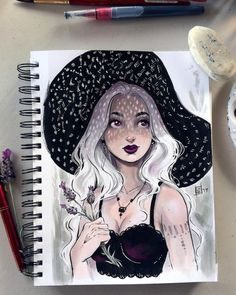 A little Throwback Thursday to celebrate 💜 ! I'm so grateful to live in this time period where, as a woman, I can own my own ART business, and watch other incredible women. Marker Kunst, Marker Art, Kunst Inspo, Art Inspo, Cartoon Kunst, Cartoon Art, Fantasy Kunst, Fantasy Art, Arte Sketchbook