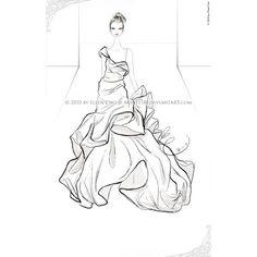 55 Inspiring Fashion Sketches Illustrations ❤ liked on Polyvore
