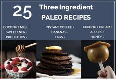 Super simple three ingredient paleo recipes, no grains/dairy/refined sugar/chemicals allowed!