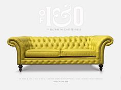 The Elizabeth Custom USA Made Chesterfield Sofas & Fabric Combinations, Chesterfield Sofa, Leather Fabric, Furniture Making, Seat Cushions, Love Seat, Furniture Design, Upholstery, Design Inspiration
