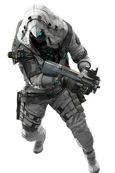 "gamefreaksnz: ""Ghosts gear up for exclusive Assassin's Creed III items Ubisoft announces limited-time Assassin's Creed crossover items for Ghost Recon Online. Armor Concept, Concept Art, Airsoft, Robot Militar, Nail Bat, Character Concept, Character Art, Mode Cyberpunk, Futuristic Armour"