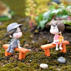 Mini PVC Couples Figurines Cute Boy and Girl Lovers Dolls for Hom e Dec – unscandy Love Cartoon Couple, Cute Love Cartoons, Cute Cartoon Girl, Cute Couple Art, Cute Couples, Cute Baby Couple, Cute Love Pictures, Cute Images For Dp, Cute Romance
