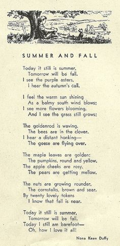 Summer and fall poem - Nona Keen Duffy Autumn Inspiration, Poetry Quotes, Beautiful Words, Simply Beautiful, Inspirational Quotes, Motivational Quotes, Wisdom, Seasons, Feelings