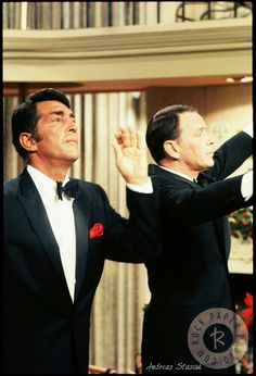Dean Martin and Frank Sinatra will you look on how much they're enjoying themselves. those two :*