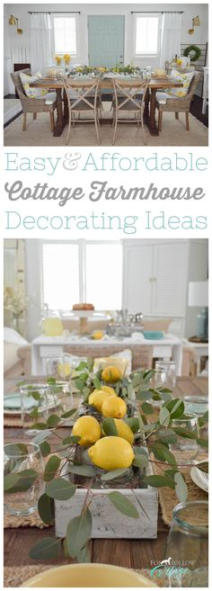 I love incorporating my latest HomeGoods finds to make my home work better and smarter for my family! From extra seating, to happy decor accents like Lemon pillows! I share easy, affordable cottage farmhouse decorating ideas for Summer and beyond, at www.foxhollowcottage.com (there is a whole home tour too with simple centerpiece ideas and more!) sponsored pin