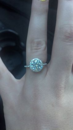 Petite Halo Engagement ring 14k White Gold, 2ct from moissaniteco.com  eng952 or 192« Weddingbee Boards