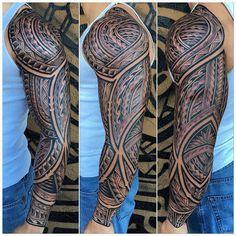 Tribal Arm Tattoos For Men, Tribal Sleeve Tattoos, Best Sleeve Tattoos, Arm Tattoos For Guys, Wrist Band Tattoo, Leg Tattoo Men, Leg Tattoos, Polynesian Tattoo Sleeve, Polynesian Tribal Tattoos