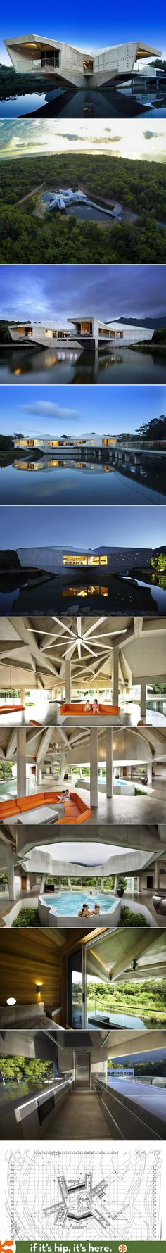 The Alkira Resort (aka The Stamp House) by Charles Wright, Australia. Creative Architecture, Futuristic Architecture, Amazing Architecture, Interior Architecture, Interior Design, Design Homes, House Design, Charles Wright, Contemporary Houses