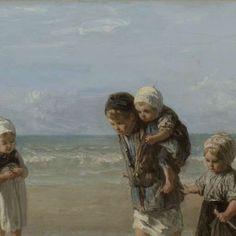 Kinderen der zee, Jozef Israëls, 1872 - Children-Verzameld werk van Genise Robbertze - Alle Rijksstudio's - Rijksstudio - Rijksmuseum
