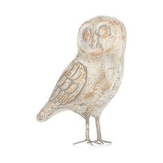 This stylish wooden vintage ornament from Gustavian comes in natural in an owl design, perfect for your home.