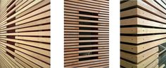 detail timber slats cladding