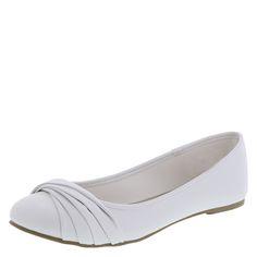 Women's Bayley Twist FlatWomen's Bayley Twist Flat, White