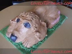 carved dog cake tutorial