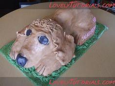 cake tutorial, dog cakes, carv dog, anim cake