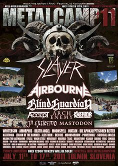metalcamp 2011 lineup - Google Search Angel Of Death, Lineup, Concert, Classic, Posters, Google Search, Metal, Art, Derby