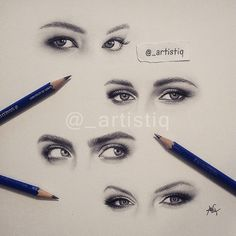 More eye drawings!  Can you guess whose eyes these belong to?