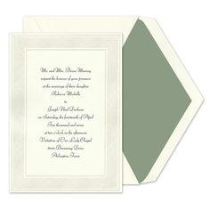 Filigree Border Invitations - Birchcraft (