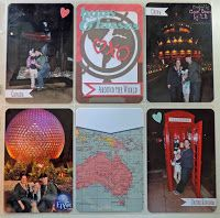 Hug & Kiss around the world in  Epcot!!  Layout made by Cool Beans by L.B. features Cricut cuts