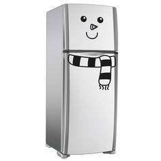 Adesivo geladeira boneco de neve. Tamanho único 55x50cm