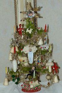 Traumhafter-Wiener-Gansfederbaum-Tragant-miniaturen-um-1900