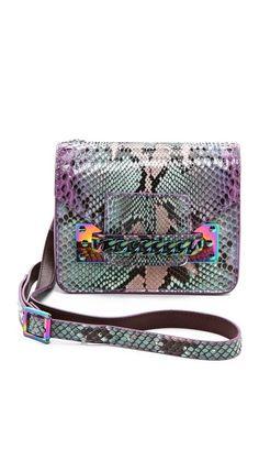 Sophie Hulme Python Chain Mini Envelope Bag