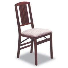 Simple Mission Folding Chair in Warm Cherry Finish  Set of 2 ** Want additional info? Click on the image. (This is an Amazon Affiliate link)