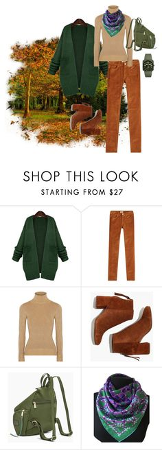 """""""Natur style (схема триада)"""" by viktoriyarey on Polyvore featuring мода, WithChic, Zadig & Voltaire, JoosTricot, Madewell, Christian Dior и Bell & Ross"""