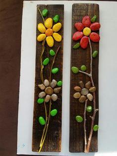 Stone Crafts, Rock Crafts, Diy Home Crafts, Diy Craft Projects, Pebble Stone, Pebble Art, Stone Art, Painted Rock Cactus, Painted Rocks