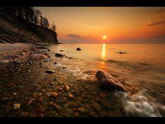 beach at sunset in Gdynia, Poland ... by MindShelves.deviantart