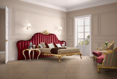 Venezia upholstered bed in red Jetclass | Real Furniture Luxury Interior Design
