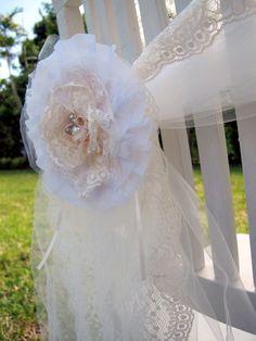 Lace flower chair wraps
