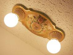1920s 30s vintage lasalle cast iron art deco flush mount ceiling 1920s 30s vintage lasalle cast iron art deco flush mount ceiling light fixture pinterest art deco lamp light and lights aloadofball Choice Image