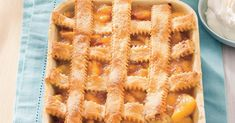 Pecan-Peach Cobbler This summer dessert is complete with several layers of pecan-laden pie crust and fresh peach filling. Köstliche Desserts, Delicious Desserts, Dessert Recipes, Birthday Desserts, Picnic Desserts, Impressive Desserts, Awesome Desserts, Dirt Cake, So Little Time