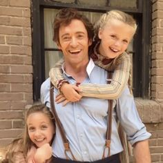 Austyn Johnson, Hugh Jackman, and Cameron Seely in The Greatest Showman (2017)