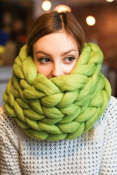 Merino wool has exceptionally anti-allergic properties though! Ohhio uses Fine Merino wool that about 23 microns and therefore unlikely to produce a scratchy feeling. That is why Ohhio products are ideal for allergy sufferers, safe for children and infants.  #knitting #knitwear #cowl #knitting #style #spring #merino #green